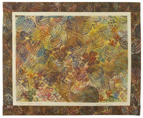"""Ocean Desert Forest, 24"""" x 20"""" framed"""
