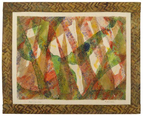 """Reliquias, 24"""" x 20"""" framed"""